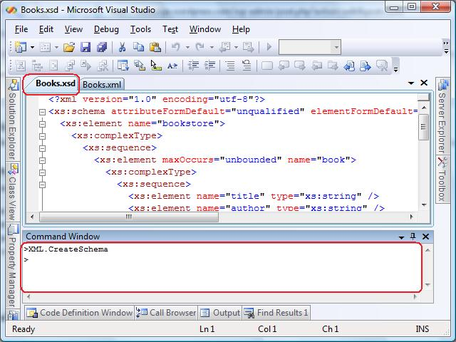 generate xml schema | Visual C++ Tips